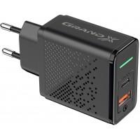 Зарядний пристрій Grand-X Fast Сharge 6в1 (1хUSB, 1хTypeC, 18W) Black (CH-880)