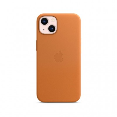 Чохол iPhone 13 Leather Case with MagSafe - Golden Brown (MM103ZE/A) Apple